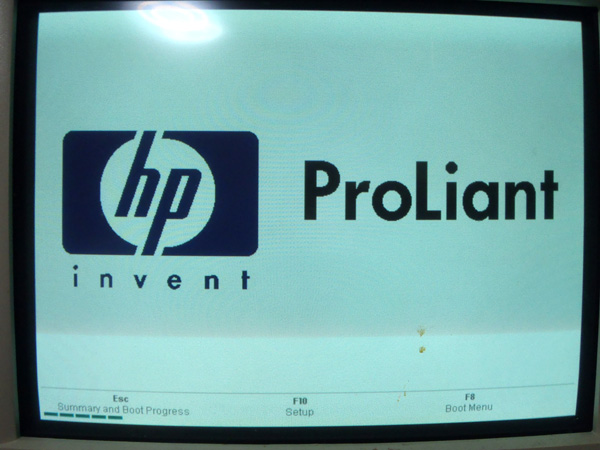 HP BIOS起動画面