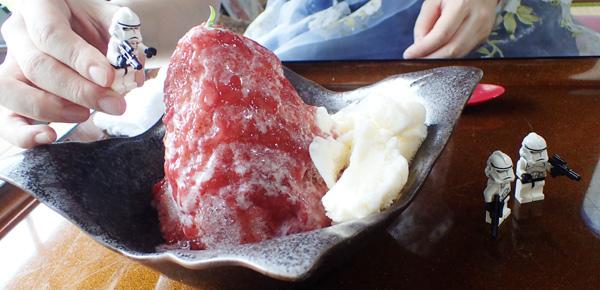 古民家カフェ茜の生いちごかき氷