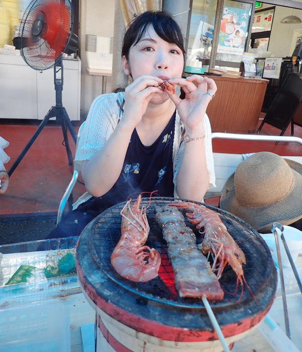 よしうみいきいき館の海鮮バーベキュー