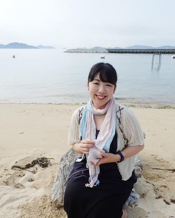 大三島ふるさと憩の家の砂浜