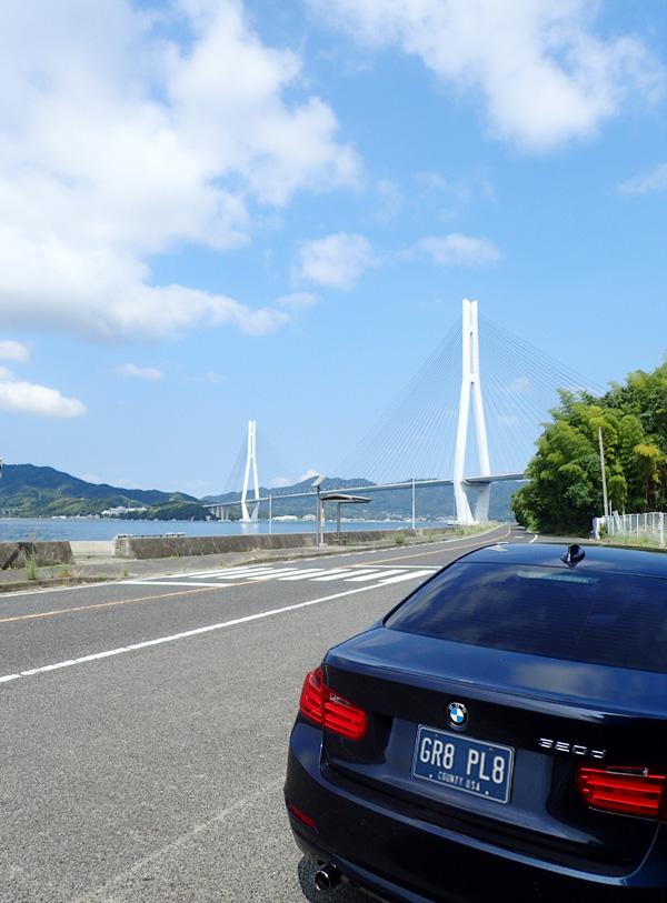 多々羅大橋を渡ると広島県