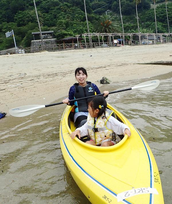 明浜海水浴場のシーカヤック