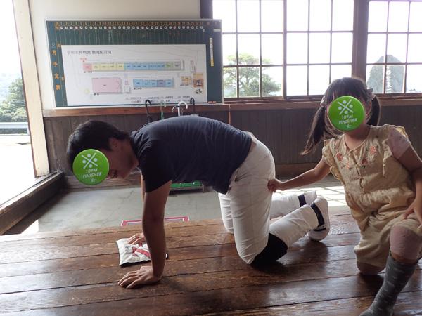 米博物館の雑巾がけレース