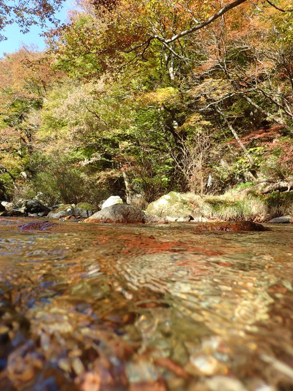 小田深山渓谷の川