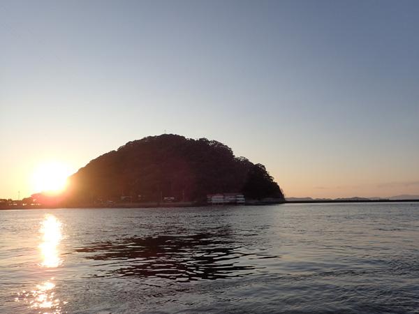 北条鹿島の夕日