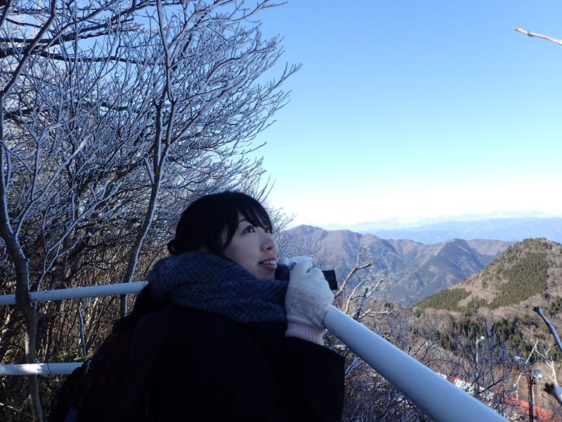 石鎚山リフト乗り場の展望台