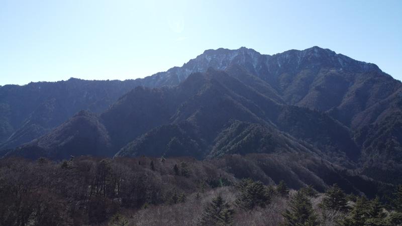 石鎚山リフト乗り場付近の展望所
