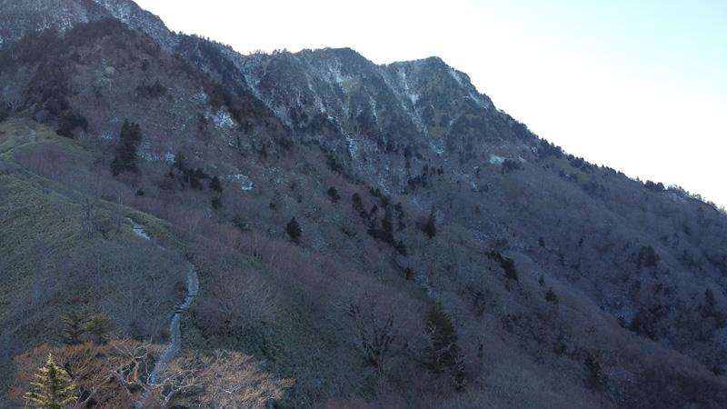 石鎚山夜明かし峠ドローン撮影