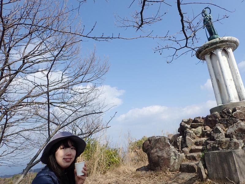 経ヶ森山頂にて