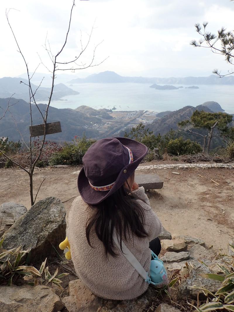 大三島の鷲ヶ頭山山頂